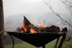 Fogo no soldador Fotografia de Stock Royalty Free