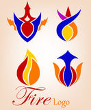 Fogo ou chama Logo Company Imagens de Stock Royalty Free