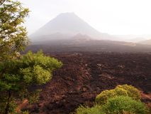 The Fogo volcano in the island of the same name, Cape Verde archipelago Royalty Free Stock Image