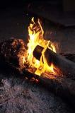 Fogo que queima-se na noite Imagem de Stock