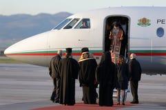 Fogo sagrado santamente dos padres cristãos Fotos de Stock Royalty Free