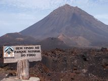 The Fogo volcano in the island of the same name, Cape Verde archipelago