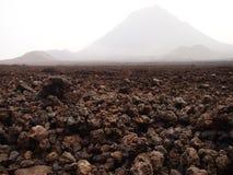 Fogo vulcano, Fogo wyspa, przylądek Verde Fotografia Stock