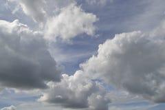 Fogography das nuvens no céu Imagens de Stock