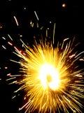 Fogos-de-artifício à terra Foto de Stock