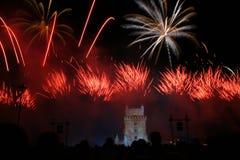 fogos-de-artifício Foto de Stock Royalty Free