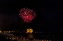 Fogos-de-artifício, agradáveis, França Fotos de Stock Royalty Free