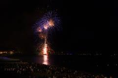 Fogos-de-artifício, agradáveis, França Imagem de Stock Royalty Free