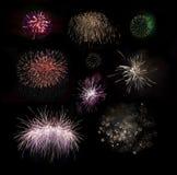 Fogos-de-artifício ajustados Imagem de Stock