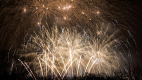 Fogos-de-artifício - ano novo 2014 Fotografia de Stock