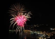 Fogos-de-artifício artificiais Imagem de Stock Royalty Free