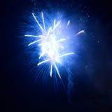 Fogos-de-artifício azuis Fotografia de Stock