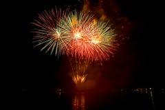 Fogos-de-artifício bonitos Imagem de Stock Royalty Free