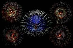 Fogos-de-artifício bonitos Fotografia de Stock