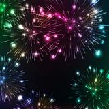 Fogos-de-artifício brilhantes Reflexões cintilantes ilustração do vetor