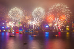 2015 fogos-de-artifício chineses do ano novo Fotos de Stock