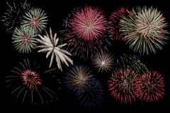 Fogos-de-artifício coloridos Imagem de Stock Royalty Free