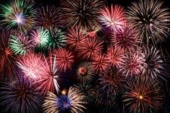 Fogos-de-artifício coloridos Imagem de Stock