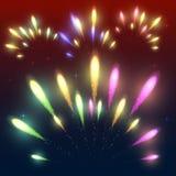 Fogos-de-artifício coloridos Fotos de Stock