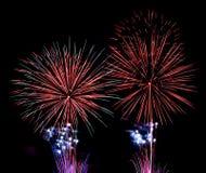 Fogos-de-artifício coloridos Fotos de Stock Royalty Free
