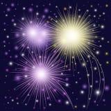 Fogos-de-artifício coloridos bonitos Imagens de Stock