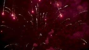 Fogos-de-artifício coloridos brilhantes filme