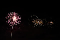 Fogos-de-artifício coloridos da celebração Fotos de Stock