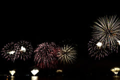 Fogos-de-artifício coloridos da celebração Imagem de Stock Royalty Free