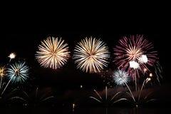 Fogos-de-artifício coloridos da celebração Foto de Stock