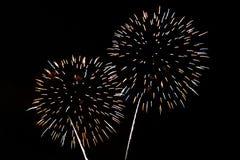 Fogos-de-artifício coloridos da celebração Fotos de Stock Royalty Free