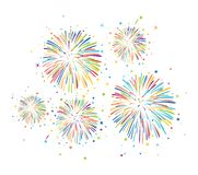 Fogos-de-artifício coloridos do vetor ilustração do vetor