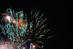 Fogos-de-artifício da alta altitude desde 2012 em Berlim, Alemanha Fotografia de Stock