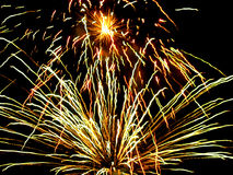 Fogos-de-artifício da noite Fotografia de Stock