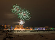 Fogos-de-artifício da véspera de ano novo 2015 Imagem de Stock Royalty Free