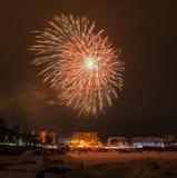 Fogos-de-artifício da véspera de ano novo 2015 Fotos de Stock