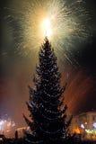 Fogos-de-artifício da véspera de Ano Novo Imagens de Stock
