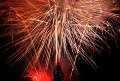 Fogos-de-artifício da véspera de Ano Novo Imagens de Stock Royalty Free