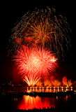 Fogos-de-artifício Danang Vietname 2013 Fotografia de Stock Royalty Free