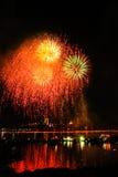 Fogos-de-artifício Danang Vietname 2013 Imagem de Stock Royalty Free