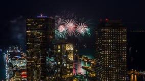 Fogos-de-artifício de Chicago Imagens de Stock