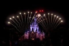 Fogos-de-artifício de Disney Foto de Stock