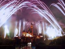Fogos-de-artifício de Disney Fotografia de Stock Royalty Free