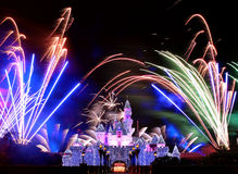Fogos-de-artifício de Disneylâandia Fotos de Stock Royalty Free