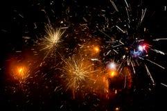 Fogos-de-artifício de explosão fotos de stock