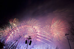 Fogos-de-artifício de Londres Imagem de Stock Royalty Free