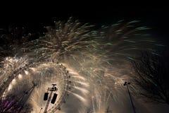 Fogos-de-artifício de Londres Fotos de Stock