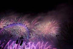 Fogos-de-artifício de Londres Imagens de Stock