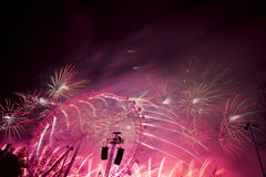 Fogos-de-artifício de Londres Fotografia de Stock Royalty Free