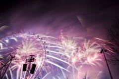 Fogos-de-artifício de Londres Imagens de Stock Royalty Free