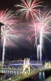 Fogos-de-artifício de PIttsburgh fotos de stock royalty free
